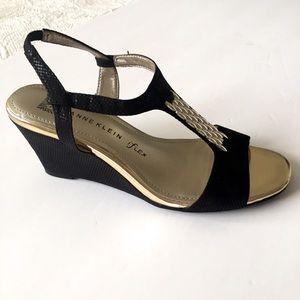 Anne Klein I Flex Black Sandals